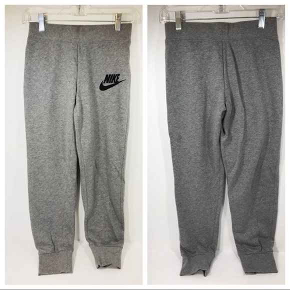 Nike Grey Cotton Jogger Pants Girls Size Large NWT